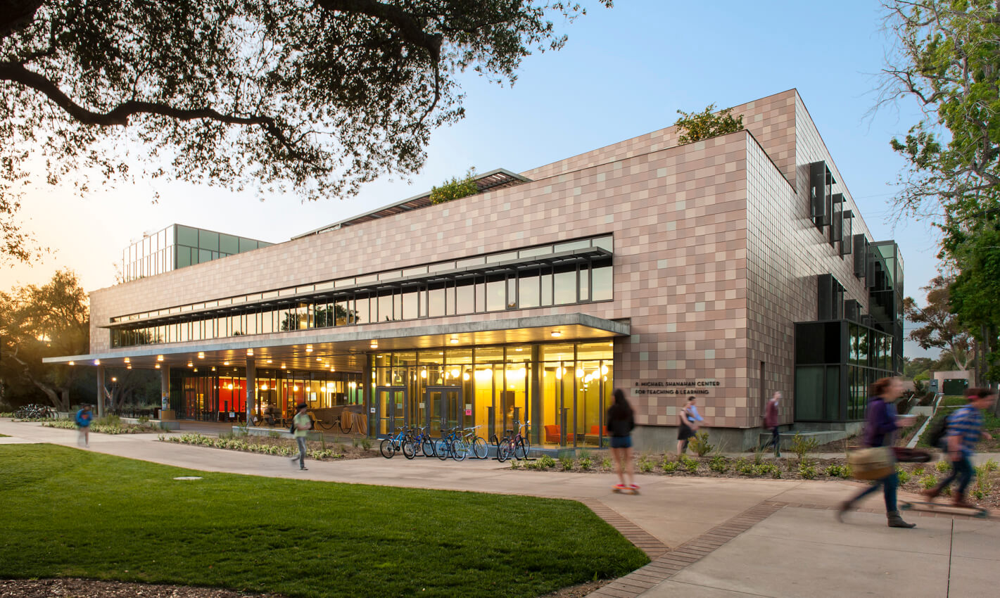 Architectural photography of new HMC building. Harvey Mudd College